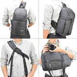Photo Camera Single Strap Waterproof Backpack w/Rain Cover
