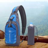 Single Strap Hiking Waterproof Backpack w/Detachable Water Bottle Holder