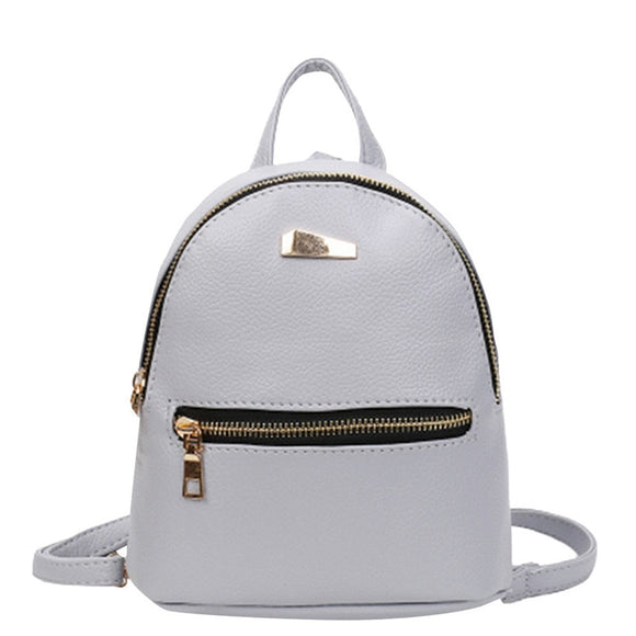 Mini Backpack Leather Shoulder Satchel