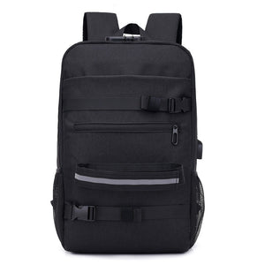 Anti-theft Backpack Comes with Lock and USB Port