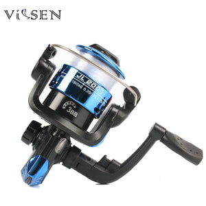 New Plastic Body Spinning Reel High Speed G-Ratio 5.1:1 Fishing Reels Multicolor