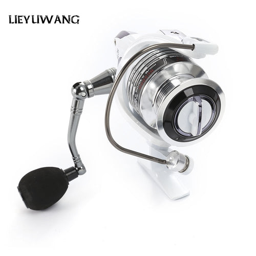 13 + 1BB Gear Ratio Up to 5.2:1 Spinning Fishing Reel  with Exchangeable Handle Automatic folding for Casting Line