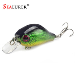 Floating Fishing Lure 5.5CM 9G  Hooks Fish Wobbler Tackle Crankbait