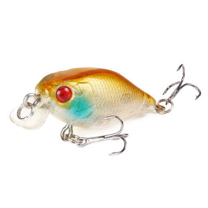 Minnow Fishing Lure 4cm 4.2g Crank Hard Bait artificial Wobblers Bass