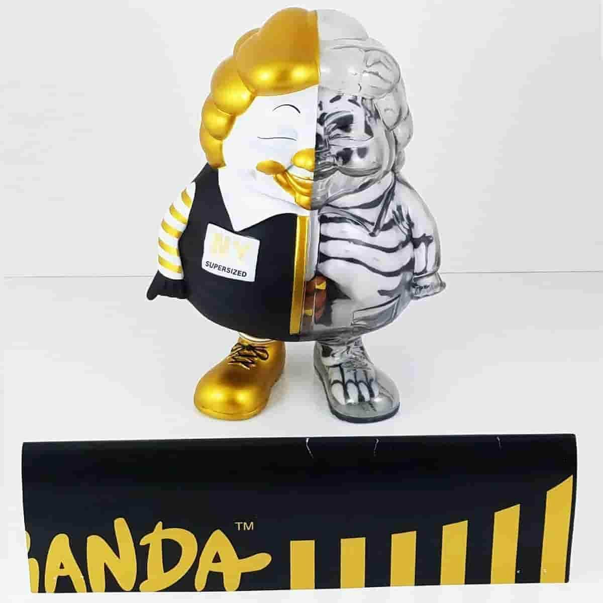 NY Black & Gold HALF XRAY MC SuperSized Secret Base x Toy Tokyo Ron English - Popaganda - IamRetro.com