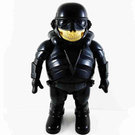 Black Police Grin Medium Figure by Made by Monsters x Ron English