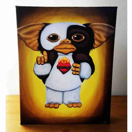 """A Mogwai in the Streets and a Gremlin in the Sheets"" Gallery Wrapped Canvas Print 8x10 by JesseJFR - IamRetro"