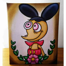 """Ren Hoek"" Ren & Stimpy Inspired Art Gallery Wrapped Canvas Print 8x10 by JesseJFR - iamRetro.com"