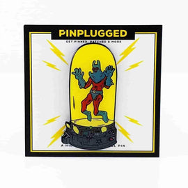 Man Ray SpongeBob Inspired Enamel Pin by Pin Plugged - iamRetro.com