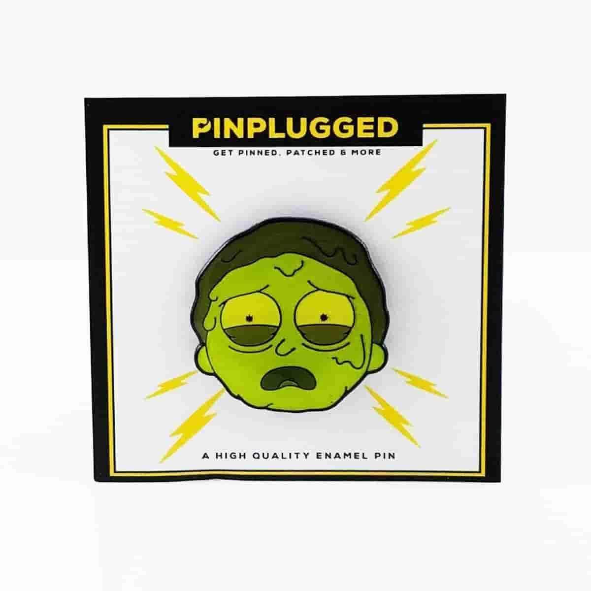 Toxic Morty Enamel Pin by Pin Plugged