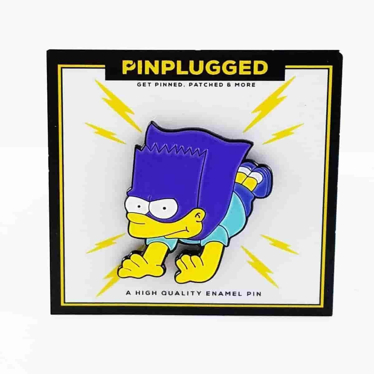 Bartman Simpsons Inspired Enamel Pin by Pin Plugged - iamRetro.com