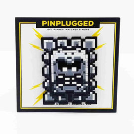 Thwomp Enamel Pin by Pin Plugged