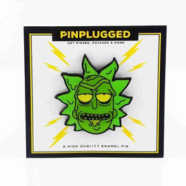 Toxic Rick Enamel Pin by Pin Plugged