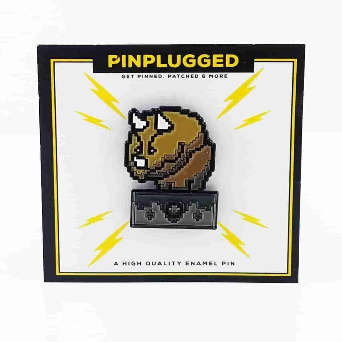 Reznor Enamel Pin by Pin Plugged