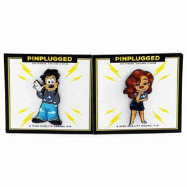 Max and Roxanne Enamel Pin Set by Pin Plugged - iamRetro.com