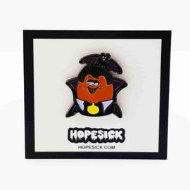 Dracula Halloween McNugget Enamel Pin by Hope Sick - iamRetro.com