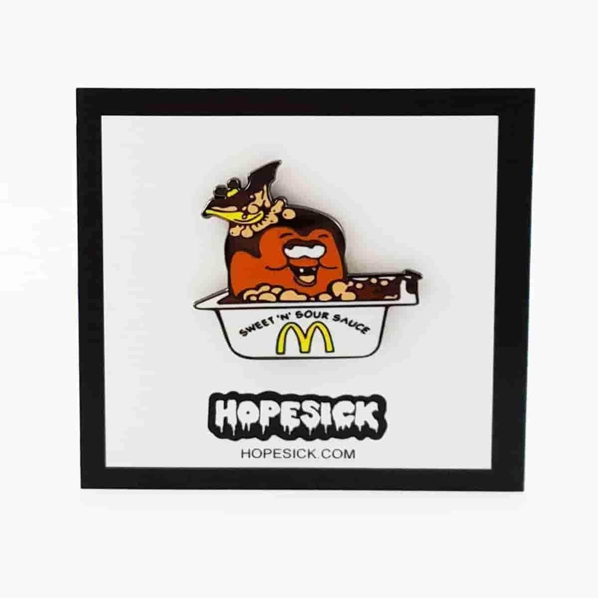 Dracula McNugget in Bath Sauce Enamel Pin by Hope Sick - iamRetro.com