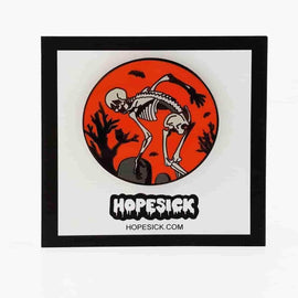 Dancing Skeleton Enamel Pin by Hope Sick - iamRetro.com