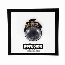 Witch w/ Crystal Ball Enamel Pin by Hope Sick