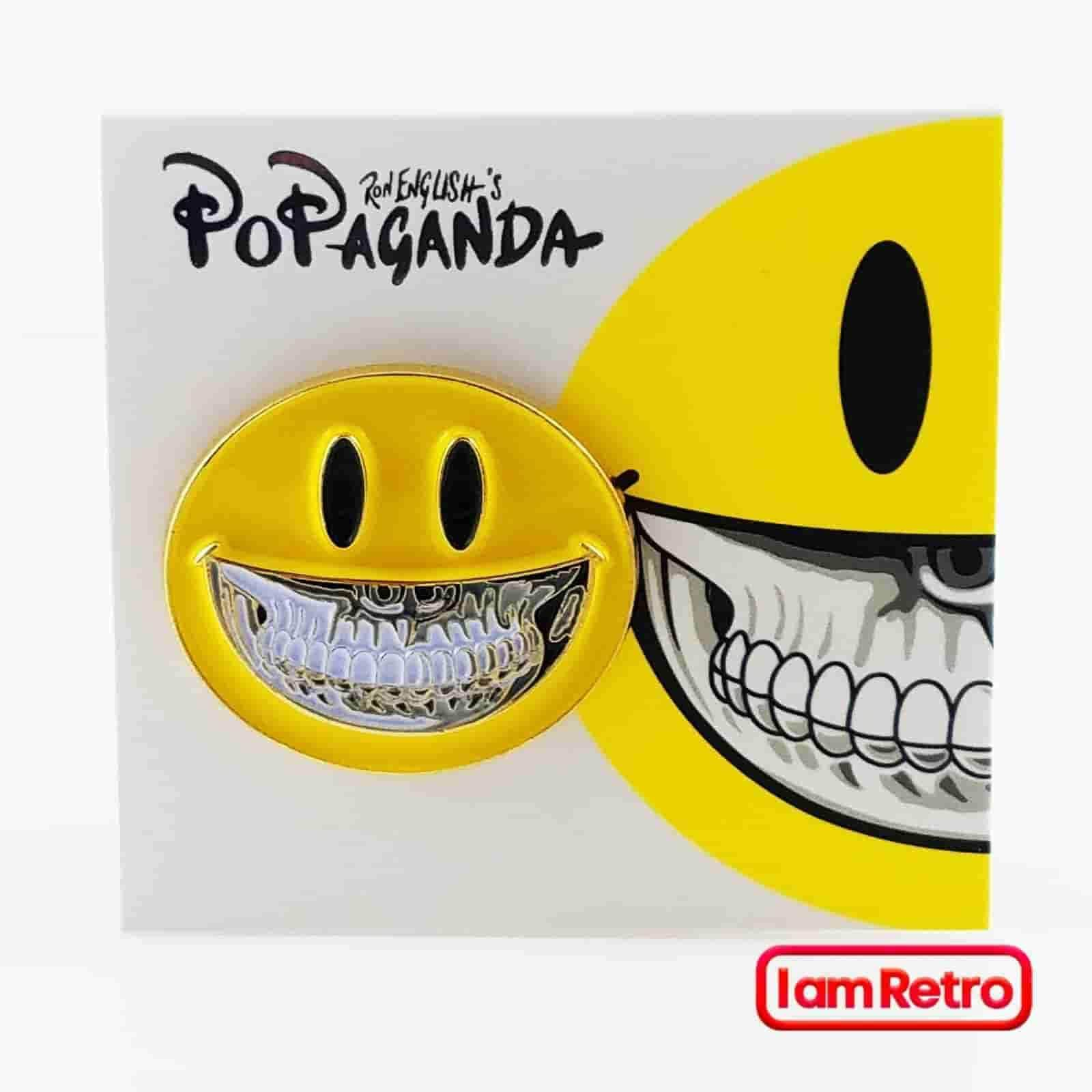 Mad Glad Grin Enamel Pin by Ron English Popaganda - iamRetro.com
