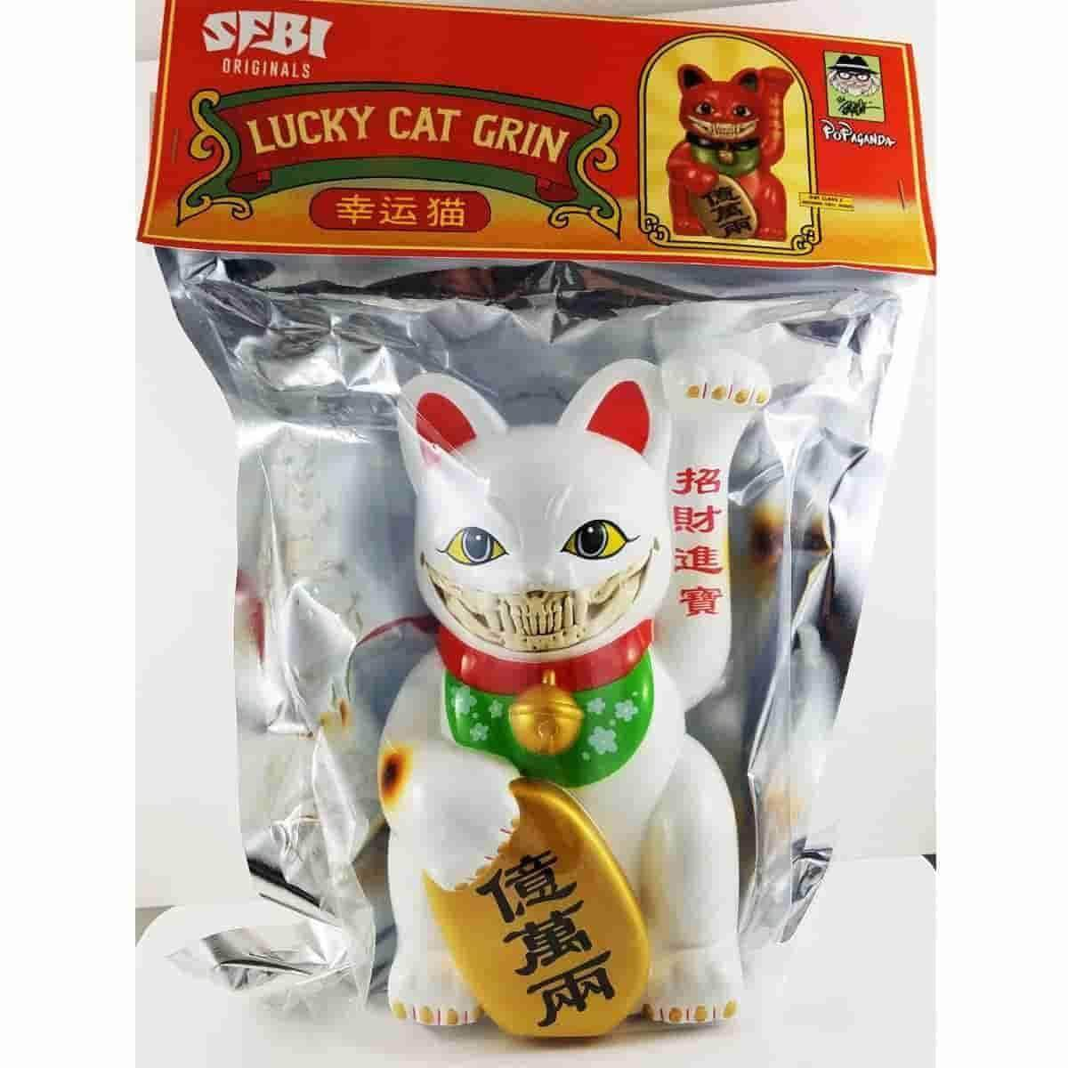 Lucky Cat Grin (White) 9