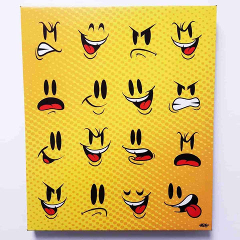The Many Faces of Sket-One Premium Gallery Wrapped Canvas Print 16x20 IamRetro Exclusive
