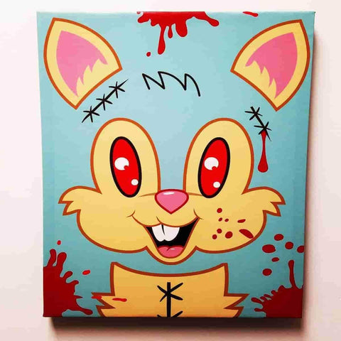 Bloody Bucky by Sket-One Premium Gallery Wrapped Canvas Print 16x20 IamRetro Exclusive