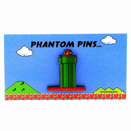 Mario Warp Pipe Enamel Pin by Phantom Pins