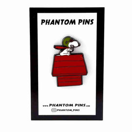 Red Baron Enamel Pin by Phantom Pins