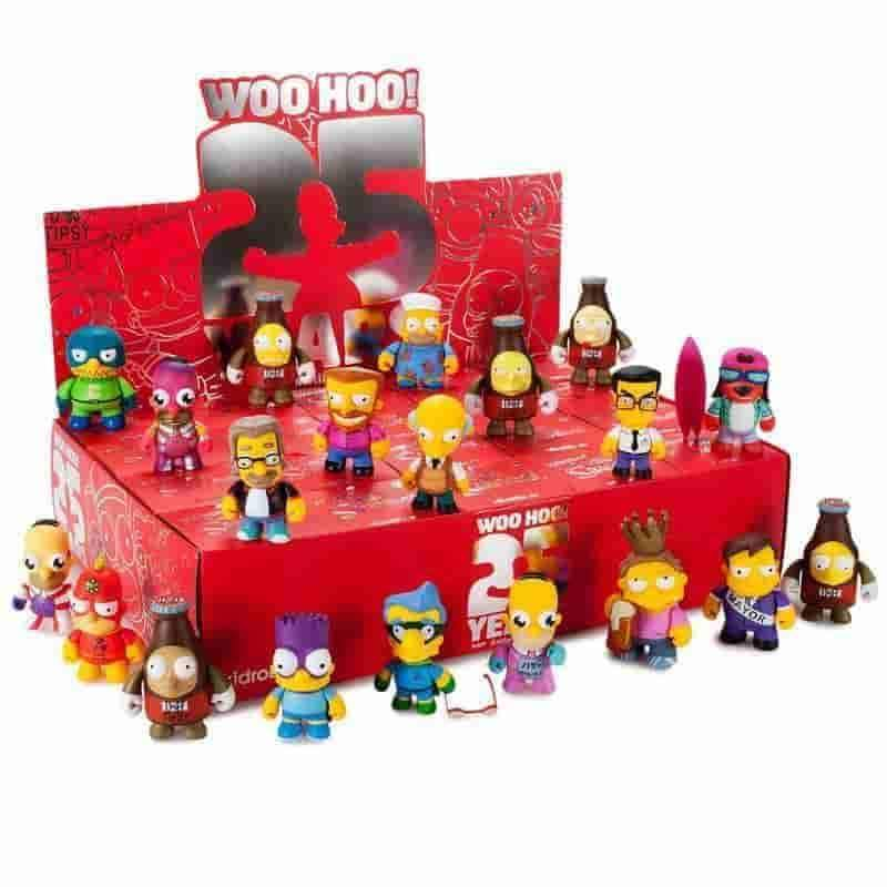 Kidrobot x Simpsons Anniversary Mini Figures- Display Case - 20 Pieces - iamRetro.com