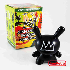 "Black Crown - Basquiat 3"" Dunny Vinyl Mini Figure by Kidrobot - iamRetro.com"