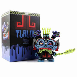 "Blue TLALOC God of Rain 8"" Dunny  Medium Figure by Jesse Hernandez Urban Aztec by Kidrobot - IamRetro"