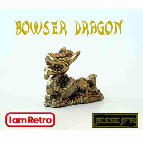 Bowser Dragon Gold Resin Sculpture by JesseJFR x IamRetro - iamRetro.com