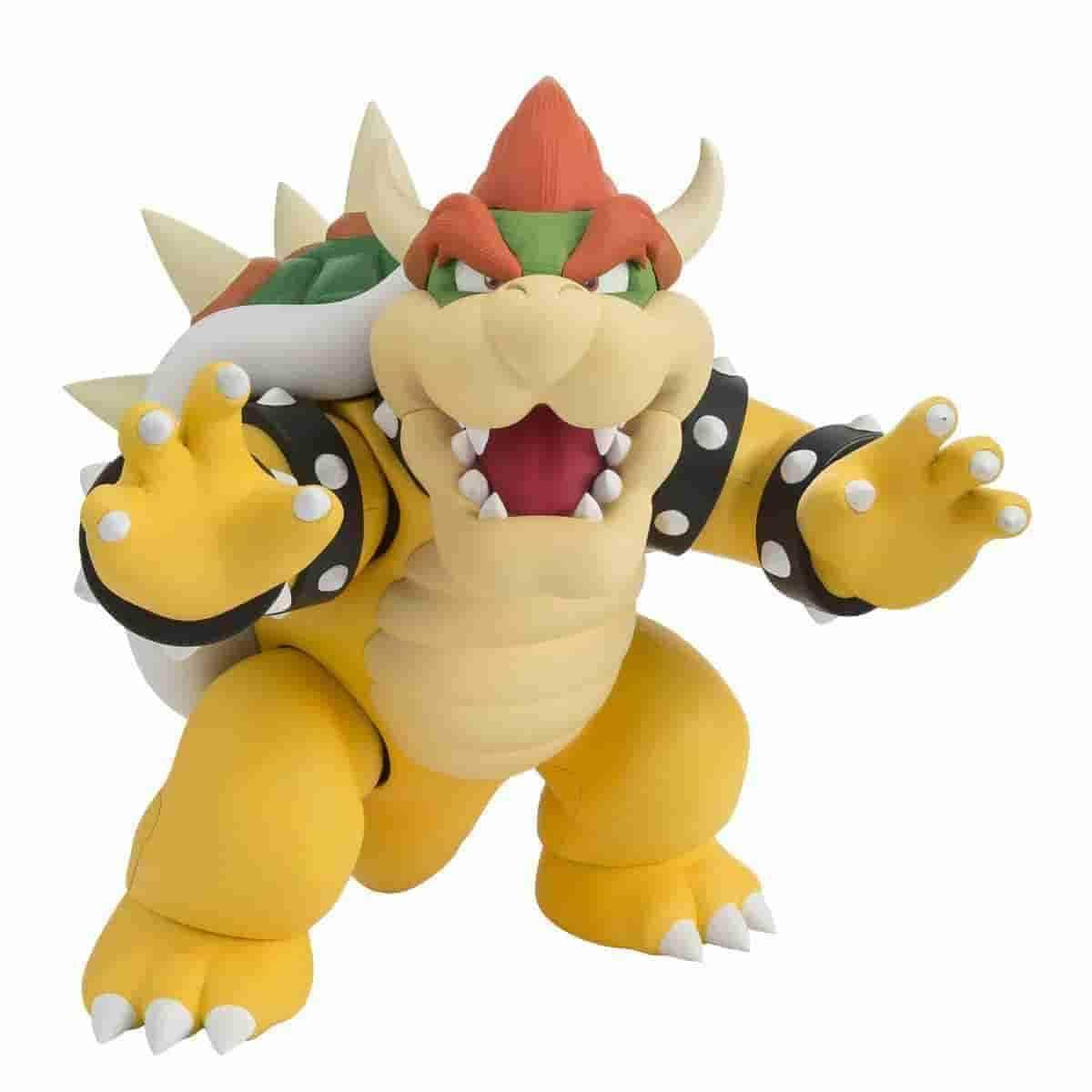 Bowser Super Mario Bros Action Figure by Bandai - Tamashii Nations S.H. Figuarts - IamRetro.com