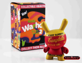"Campbell's Tomato Juice 3"" Mini Figure - Andy Warhol Dunny Mini Series 2 by Kidrobot - IamRetro"
