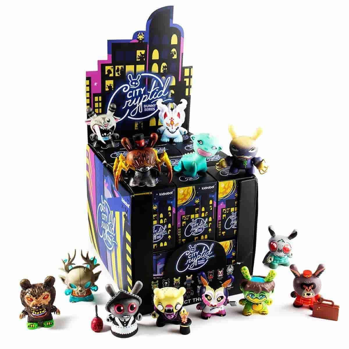 City Cryptid Dunny Series Full Display Case Contains 24 Blind Boxes by Kidrobot Free Case Exclusive W/Purchase - IamRetro