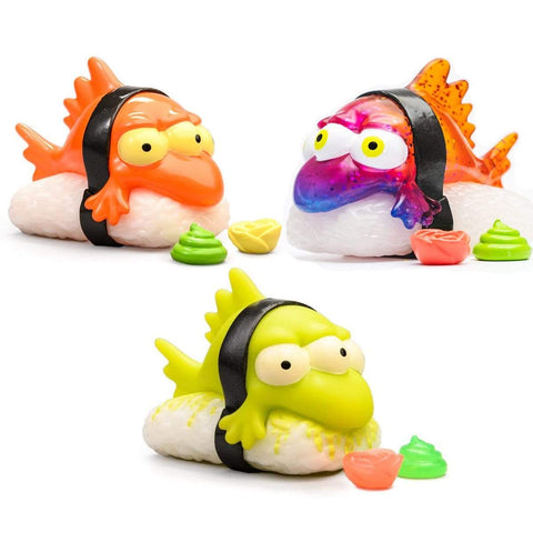 Triple Pack Combo Blinky Nigir - Orange , Kaiju, Toxic GID - Simpsons Kidrobot IamRetro Exclusive