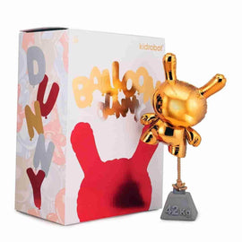 "Gold Balloon 8"" Dunny by Wendigo Toys x Kidrobot Exclusive Variant"