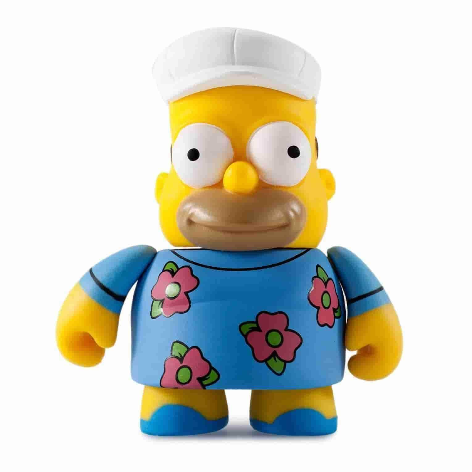 Fat Hat Homer Simpsons 25th Anniversary Vinyl Mini Series by Kidrobot - IamRetro