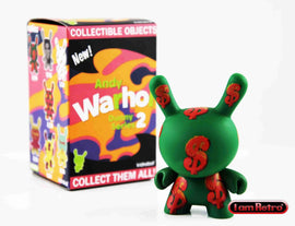 Green $ - Andy Warhol Dunny Mini Series 2 by Kidrobot - IamRetro