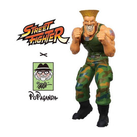 "Guile Grin 15"" Vinyl Figure by Ron English Popaganda x Street Fighter"