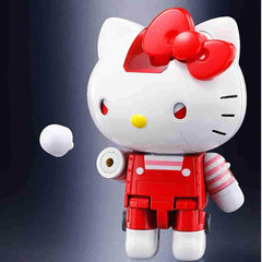Hello Kitty Red Stripe Figure by Bandai - Absolute Chogokin - IamRetro