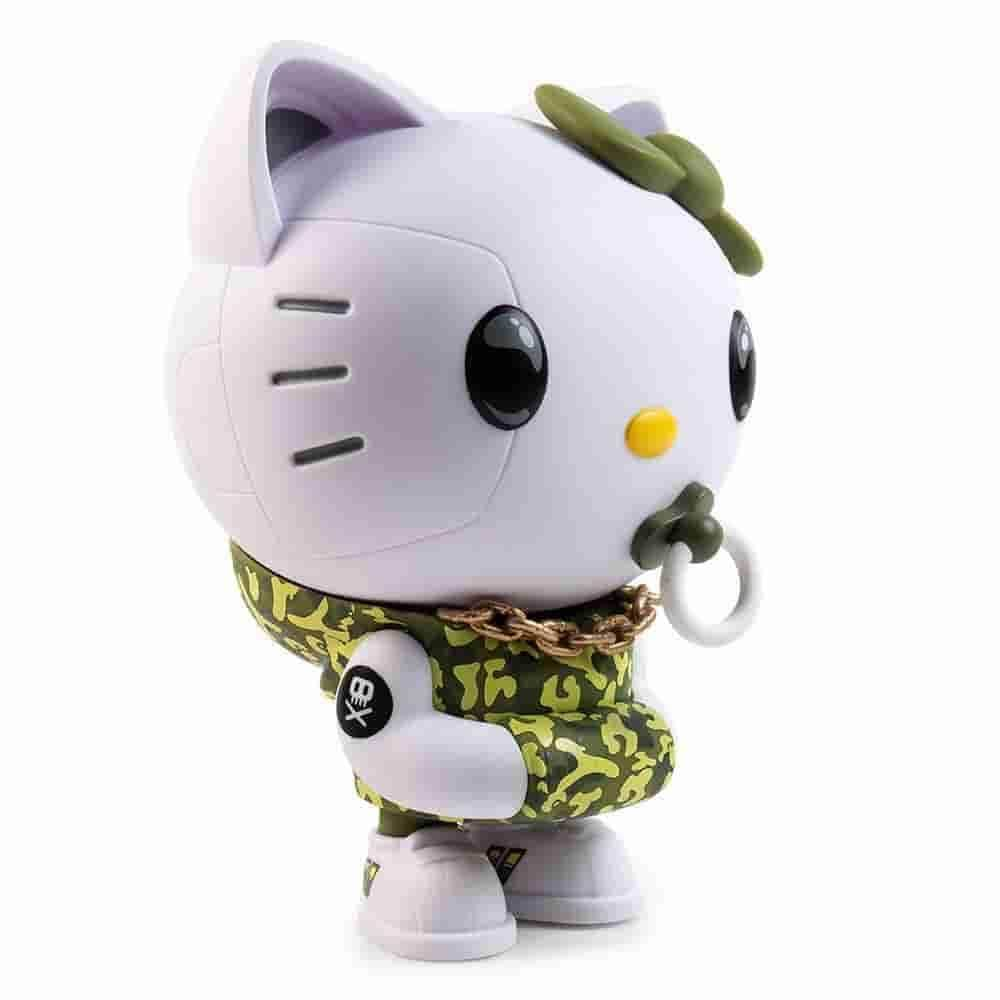 Green Camo Hello Kitty TEQ63 Vinyl Figure by Quiccs x Sanrio x Kidrobot - IamRetro Exclusive