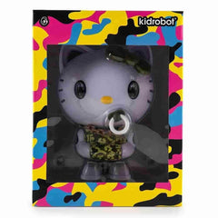 Green Camo Hello Kitty TEQ63 Vinyl Figure by Quiccs x Sanrio x Kidrobot - IamRetro Exclusive - iamRetro.com