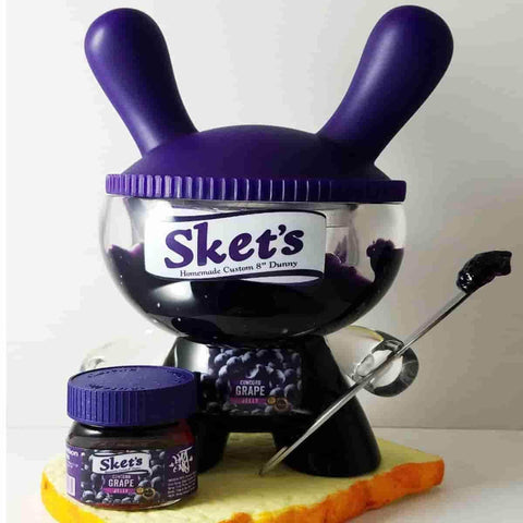 "Sket's Concord Grape Jelly 8"" Custom Dunny by Sket-One - IamRetro.com"
