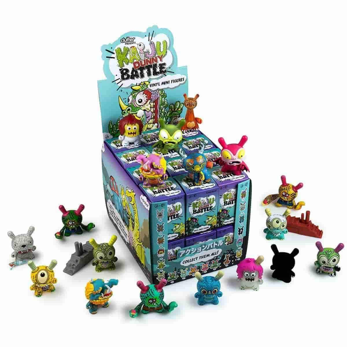 Kaiju Dunny Series Full Display Case Contains 24 Blind Boxes