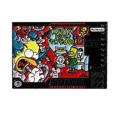 Simpsons Kruysty's Super Fun House SNES Cover Enamel Pin by Phantom Pins