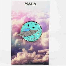 "UFO ""Let's Ride"" Enamel Pin (Mint) by Mala - IamRetro.com"