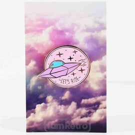 "UFO ""Let's Ride"" Enamel Pin (Pink) by Mala - IamRetro.com"