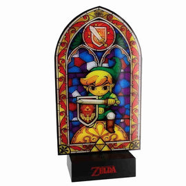 Nintendo Legend of Zelda: Link's Wind Waker Stained Glass Window Light - Official Nintendo - IamRetro.com
